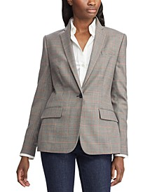 Glen Plaid-Print Blazer