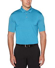 PGA TOUR Men's Feeder Striped Polo