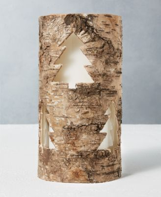 CLOSEOUT! Holiday Round Tree Birchwood Votive