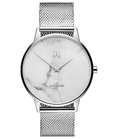 MVMT Boulevard Venice Marble Stainless Steel Mesh Bracelet Watch 38mm