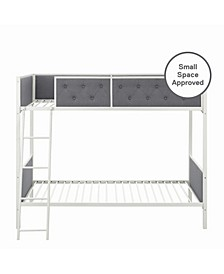 Clara Twin-Over-Twin Upholstered Bunk Bed