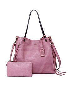 Daisy Leather Tote Bag