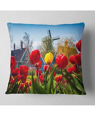 Design Art Designart Tulips In The Netherlands Village