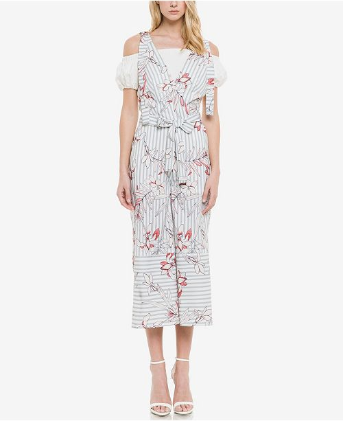 endless rose Lily Stripe Jumpsuit