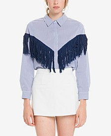 Fringe Detail Stripe Shirt
