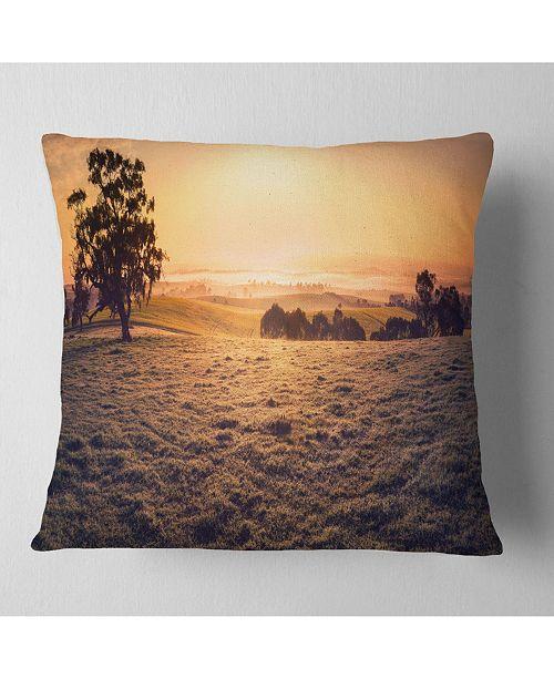 Design Art Designart Field Of Dreams Panorama Landscape Printed Throw Pillow 26 X 26 Reviews Decorative Throw Pillows Bed Bath Macy S