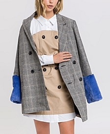 Jacket with Combo Faux Fur