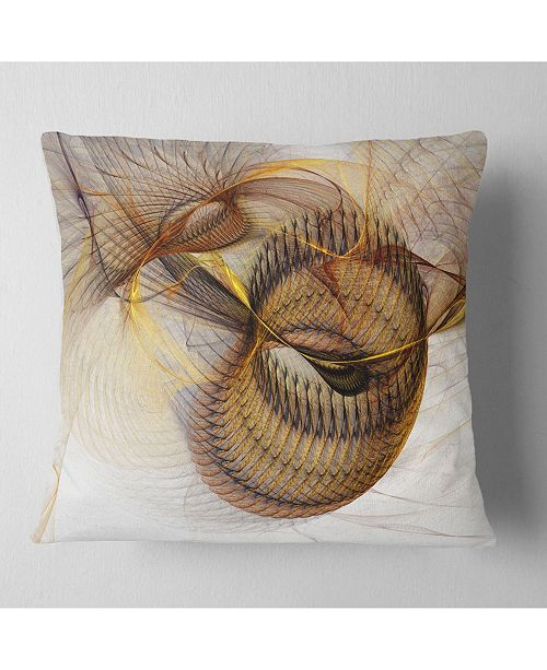 "Design Art Designart Abstract Brown Spiral Texture Abstract Throw Pillow - 18"" X 18"""