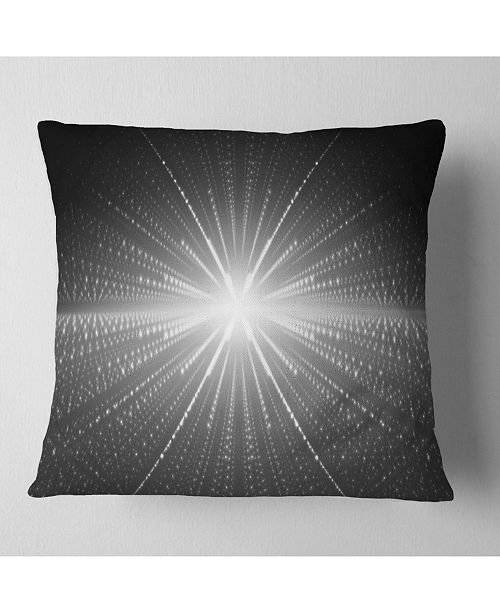 "Design Art Designart Glowing Star In Cosmic Galaxy Abstract Throw Pillow - 18"" X 18"""