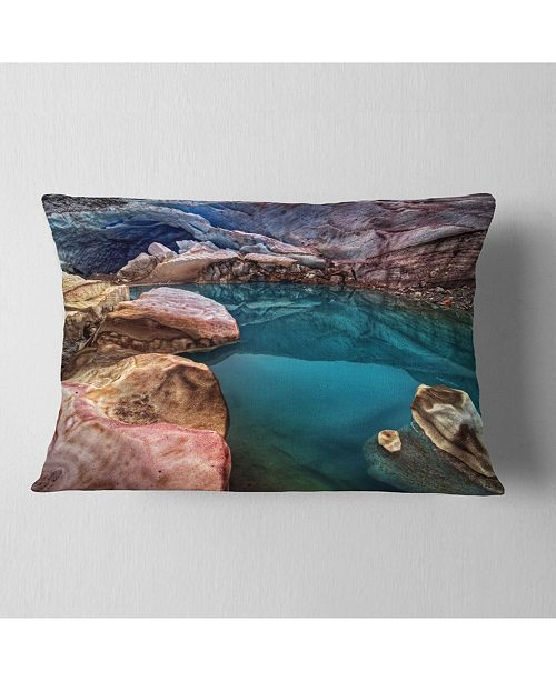 Design Art Designart Deep Glacier Cave In Blue Landscape Printed Throw Pillow 12 X 20 Reviews Decorative Throw Pillows Bed Bath Macy S