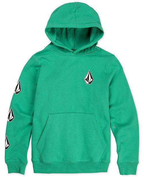 Volcom Big Boys Deadly Stone Logo-Print Hoodie