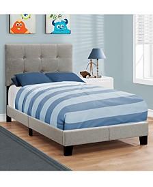 Monarch Specialties Twin Linen Bed - Over Max