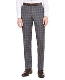 Hugo by Hugo Boss Men's Slim-Fit Dark Gray Plaid Wool Suit Separate Pants