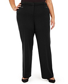 Plus Size Curvy Tummy Control Pants, Created For Macy's