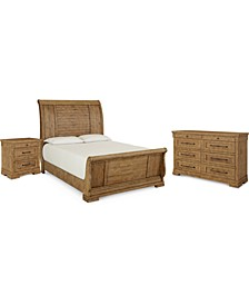 Trisha Yearwood Coming Home Sleigh Bedroom Collection 3-Pc. Set (King Bed, Nightstand & Dresser)