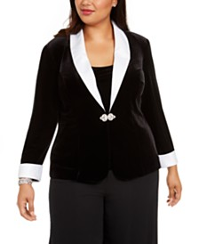 Alex Evenings Plus Size Velvet Twinset