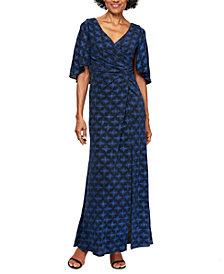 Alex Evenings Printed A-Line Long Dress