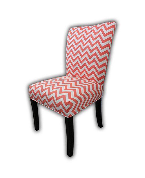 Sole Designs Julia Zig Zag Dining Chair Set, Set of 2