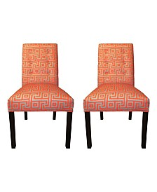 Sole Designs Greece Tufted Dining Chair Set, Set of 2