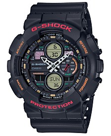 G-Shock Men's Analog-Digital Black Resin Strap Watch 51.2mm