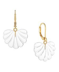 14K Gold-Plated Shell Drop Earrings