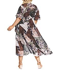 Trendy Plus Size Printed Maxi Dress