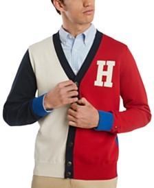 Tommy Hilfiger Men's Signature Ivy Regular-Fit Colorblocked Cardigan