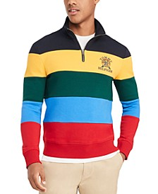 Men's Traveler Colorblocked Stripe Quarter-Zip Sweatshirt