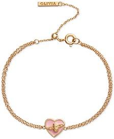 Love Bug Heart Chain Bracelet