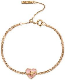 Olivia Burton Love Bug Heart Chain Bracelet