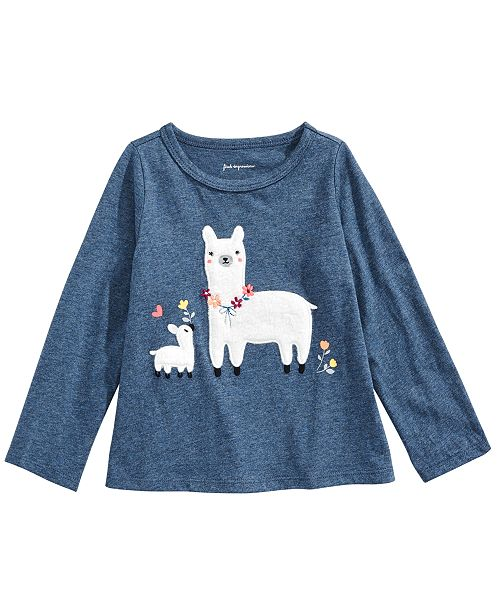 First Impressions Toddler Girls Cotton Llama T-Shirt, Created For Macy's