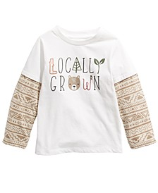 Baby Boys Cotton Layered-Look Locally Grown T-Shirt, Created For Macy's