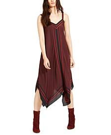 Printblocked Handkerchief-Hem Dress