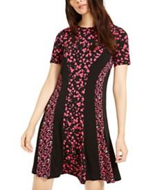 Michael Michael Kors Mixed-Print Dress, Regular & Petite Sizes