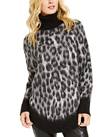 Animal-Print Poncho