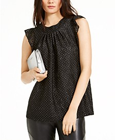 Sequined Lace Top
