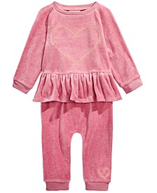 Baby Girls 2-Pc. Ruffle Top & Jogger Pants Set, Created For Macy's