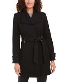 I.N.C. Asymmetrical Belted Coat, Created For Macy's
