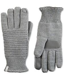 Women's Textured Knit Touchscreen Gloves