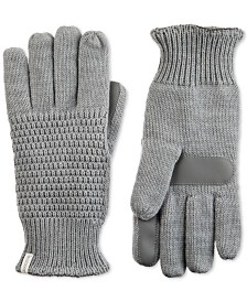 Isotoner Signature Women's smartDRI Textured Knit Gloves With smarTouch