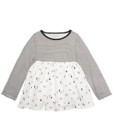 First Impressions Baby Girls Cotton Woodland Animals Tunic, Created For Macys's
