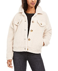Juniors' Sherpa Trucker Jacket