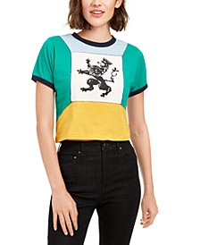 Cotton Colorblocked Graphic T-Shirt