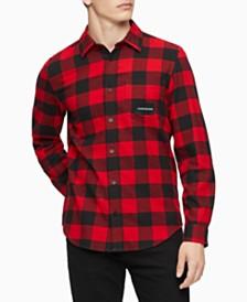 Calvin Klein Jeans Men's Buffalo Plaid Shirt