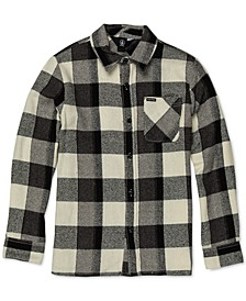 Big Boys Buffalo-Plaid Cotton Shirt