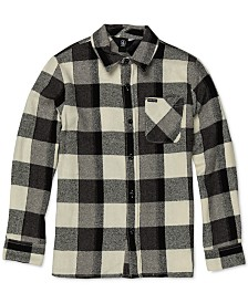 Volcom Big Boys Buffalo-Plaid Cotton Shirt