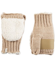 Women's Acrylic Knit Flip-Top Mittens