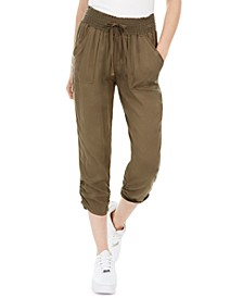 Ruched Cropped Pants