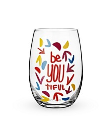 Beautiful Stemless Wine Glass