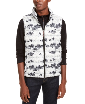 Hawke & Co. Outfitter Men's Packable Down Blend Puffer Vest In Snow Camo